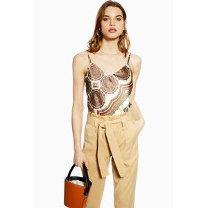 Topshop Rory Paperbag Waist Utility Trousers Pants